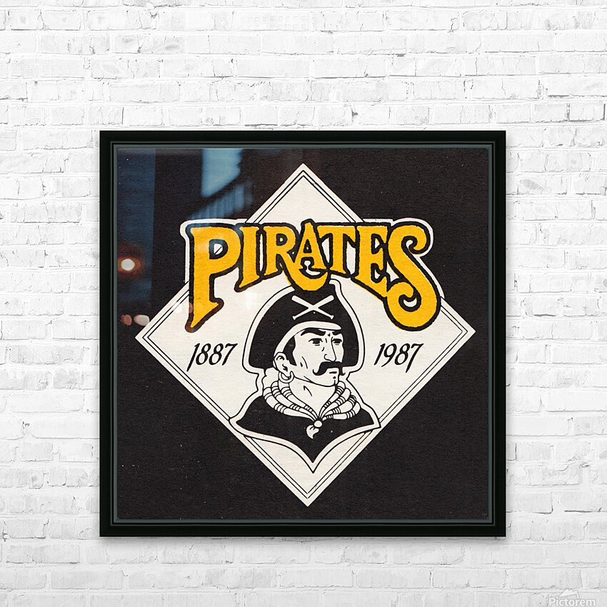 1988 Pittsburgh Pirates Retro Art HD Sublimation Metal print with Decorating Float Frame (BOX)