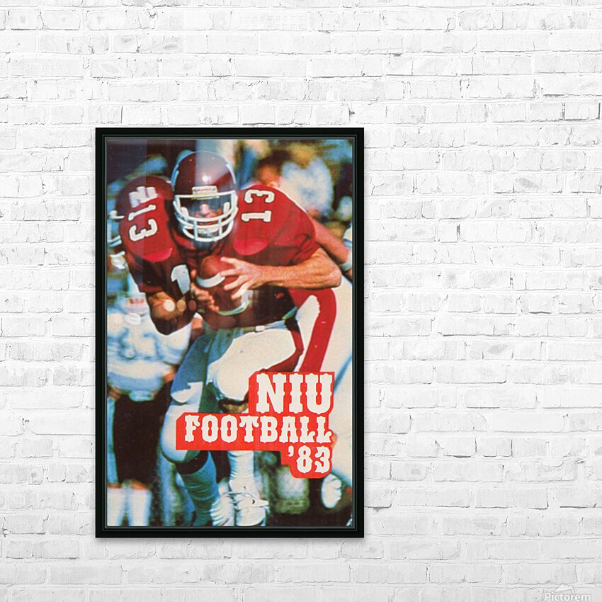 1983 Northern Illinois Huskies Football Poster HD Sublimation Metal print with Decorating Float Frame (BOX)