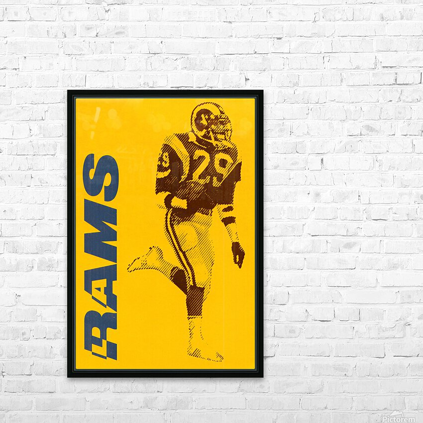 1986 LA Rams Football Art HD Sublimation Metal print with Decorating Float Frame (BOX)
