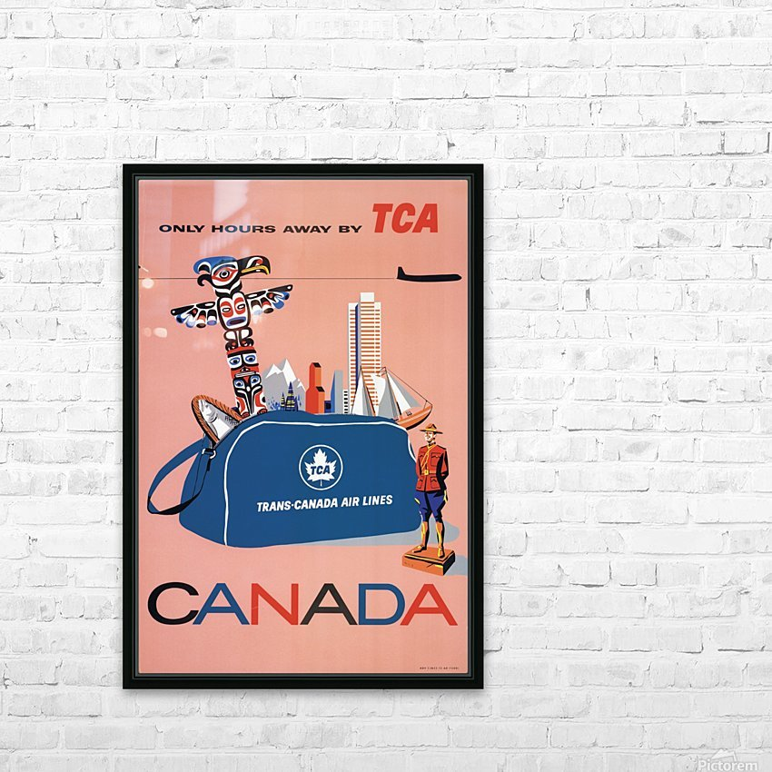 Vintage Toronto travel poster HD Sublimation Metal print with Decorating Float Frame (BOX)