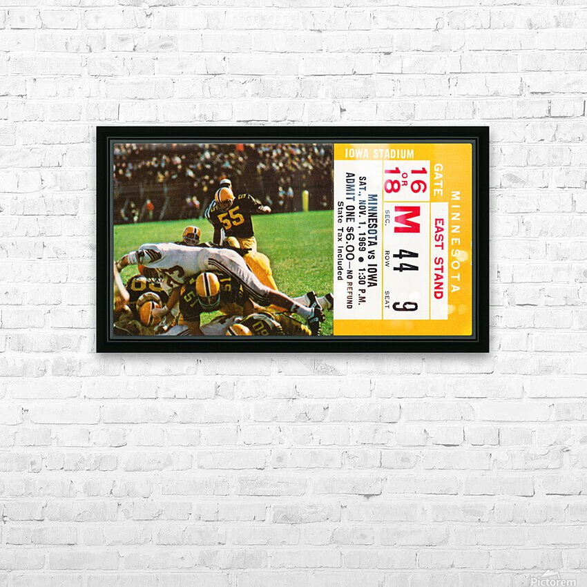 1969 Iowa Hawkeyes vs. Minnesota Golden Gophers HD Sublimation Metal print with Decorating Float Frame (BOX)