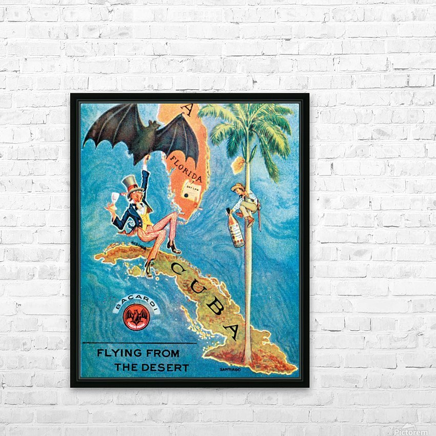 Visit Cupa vintage travel poster HD Sublimation Metal print with Decorating Float Frame (BOX)