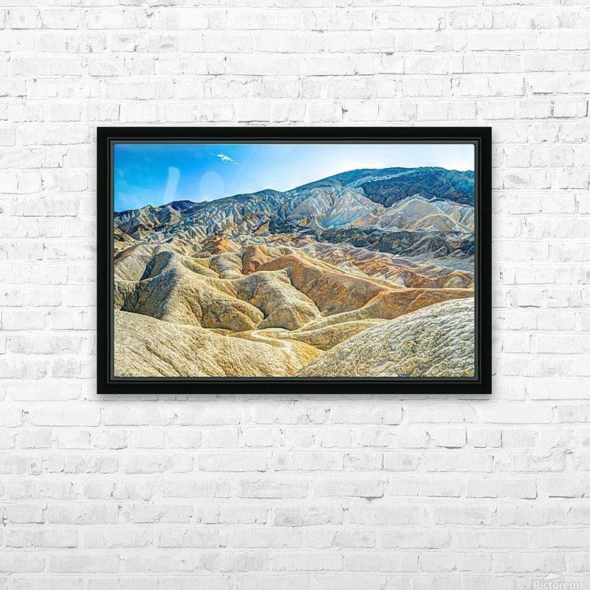 Death Valley Waves HD Sublimation Metal print with Decorating Float Frame (BOX)