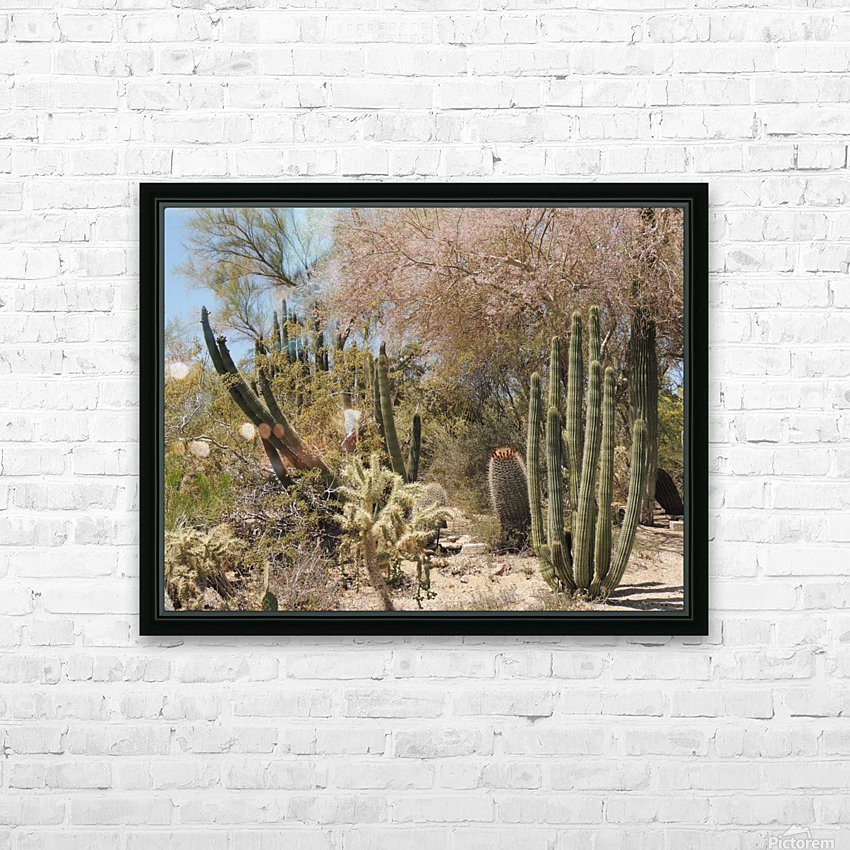 Cactus Garden HD Sublimation Metal print with Decorating Float Frame (BOX)
