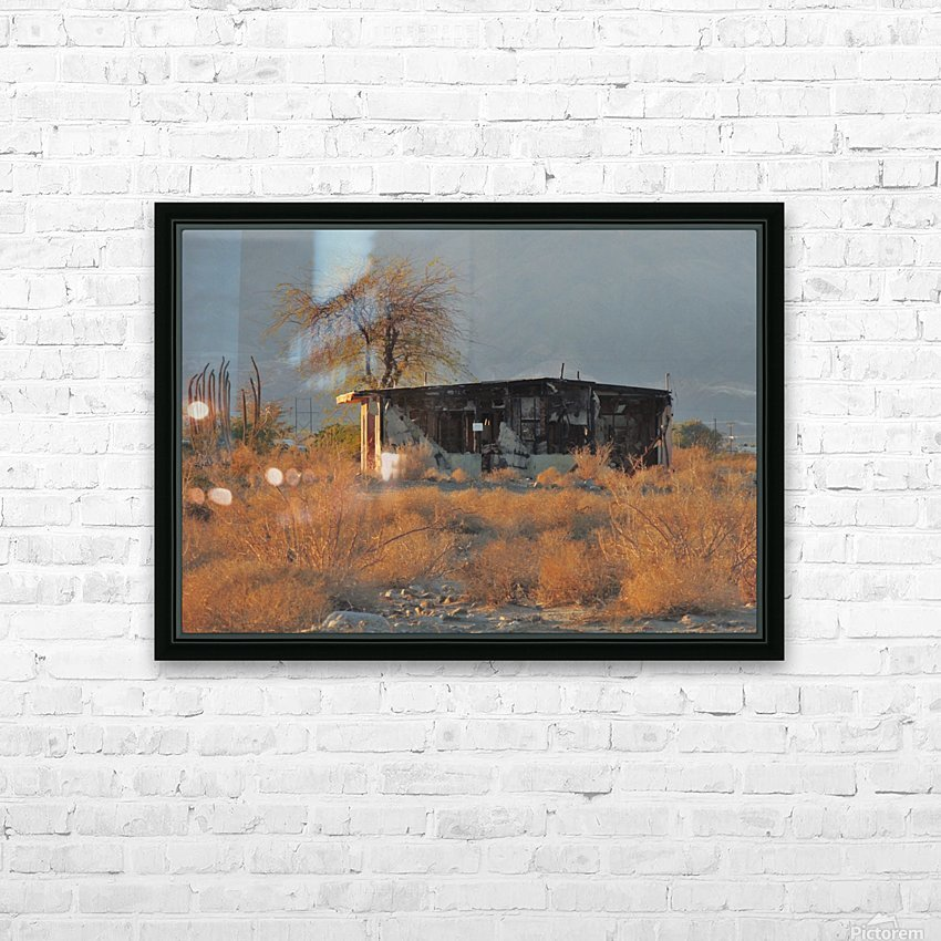 Abandoned in the Desert HD Sublimation Metal print with Decorating Float Frame (BOX)