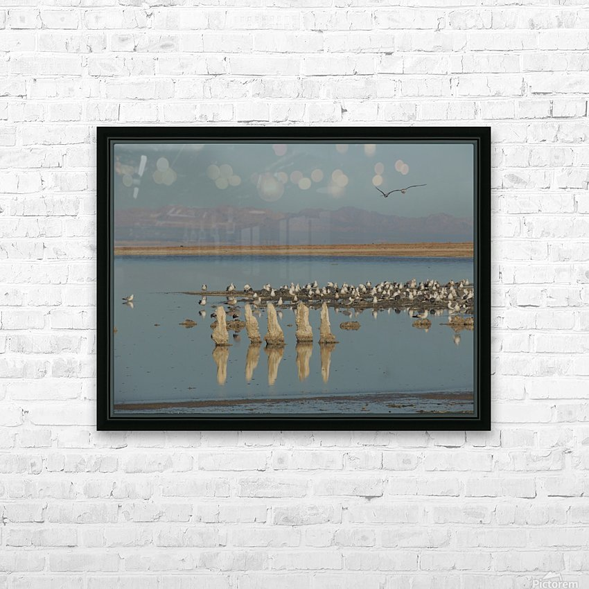 The Salton Sea HD Sublimation Metal print with Decorating Float Frame (BOX)