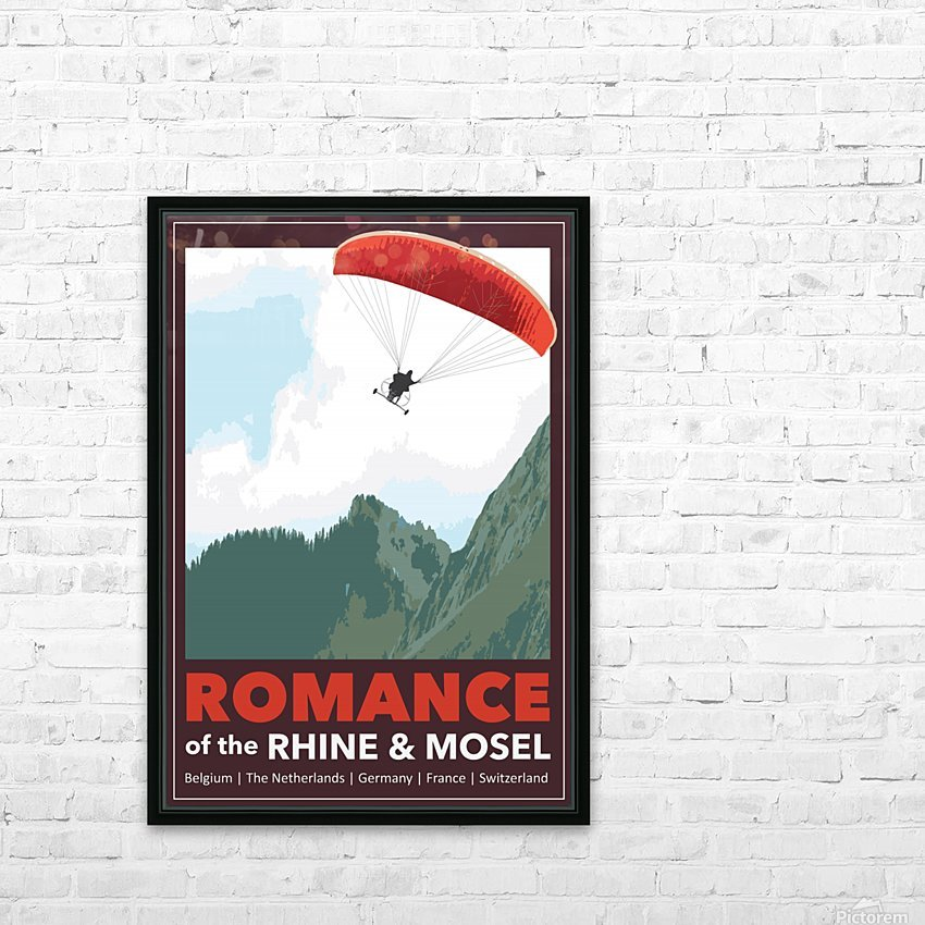 Lydon, Romance of the Rhine and Mosel poster HD Sublimation Metal print with Decorating Float Frame (BOX)