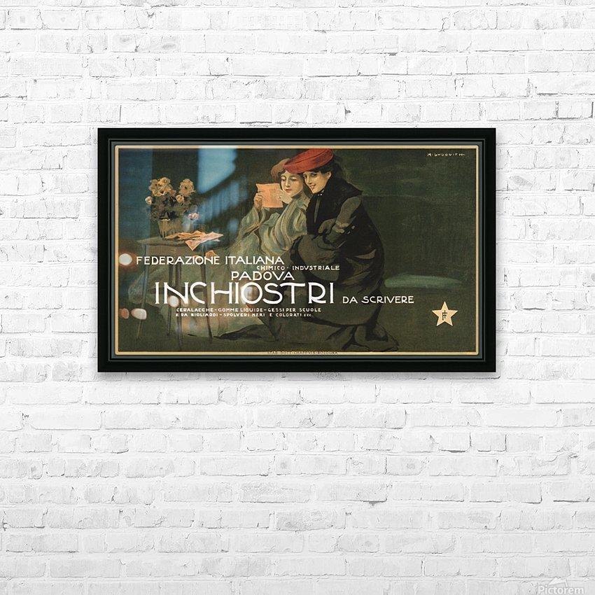 Federazione Italiana Chimico Industriale Padova Inchiostri Da Scrivere Poster HD Sublimation Metal print with Decorating Float Frame (BOX)