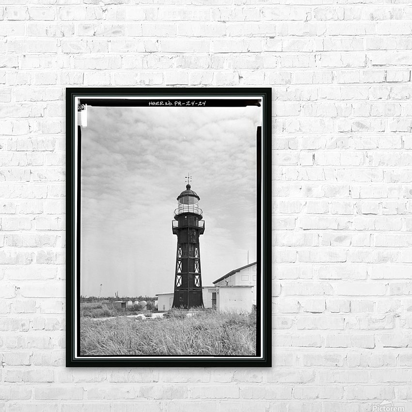 Isla-de-Mona-Light-Puerto-Rico HD Sublimation Metal print with Decorating Float Frame (BOX)
