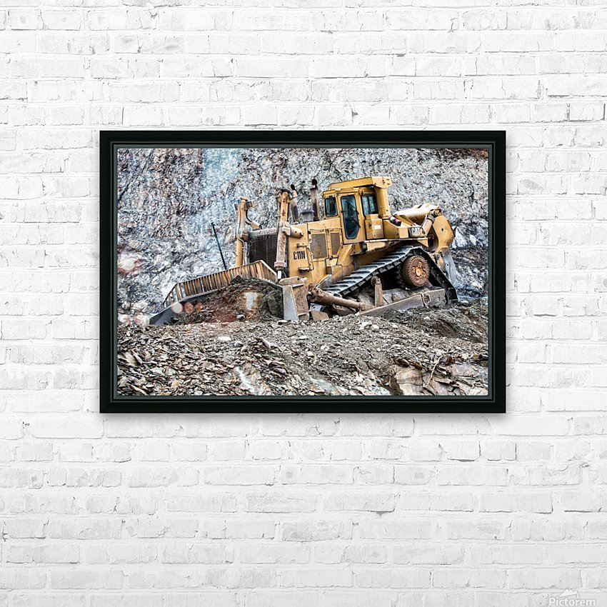 Earth Mover HD Sublimation Metal print with Decorating Float Frame (BOX)