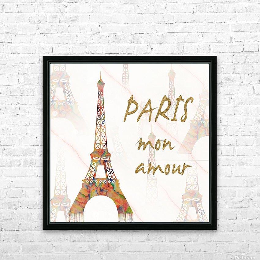 Paris mon amour HD Sublimation Metal print with Decorating Float Frame (BOX)
