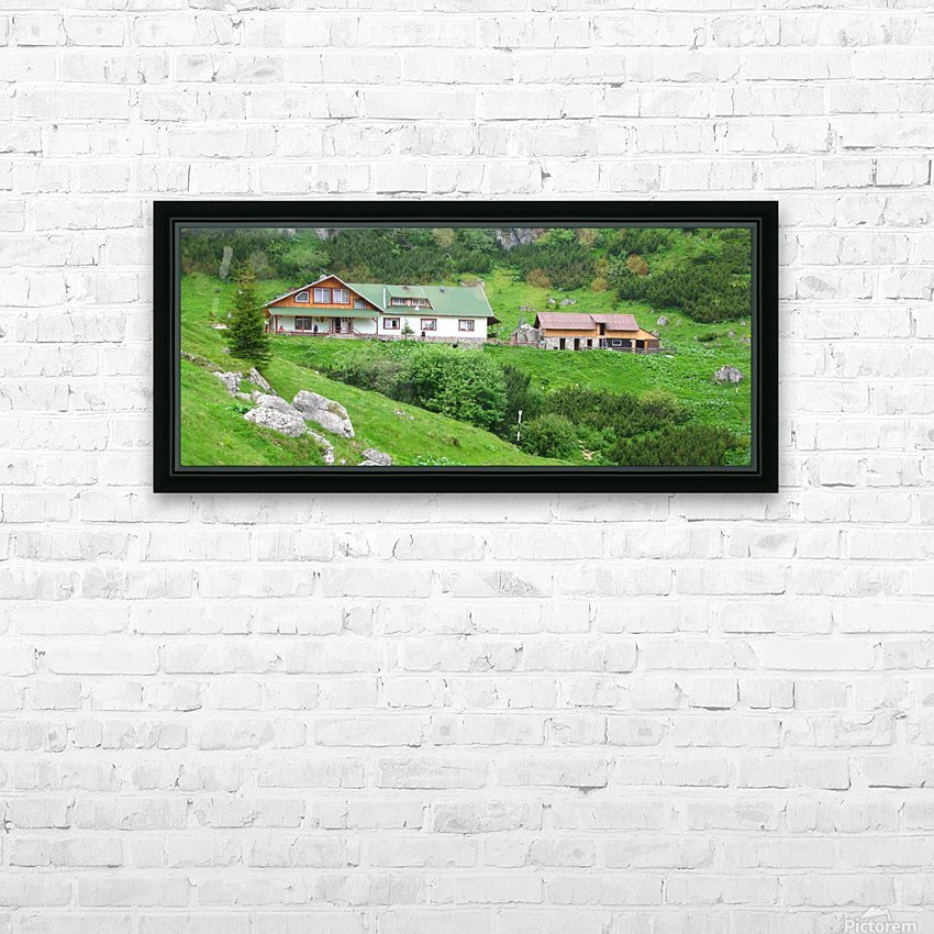 Malaiesti cabin in Romania HD Sublimation Metal print with Decorating Float Frame (BOX)