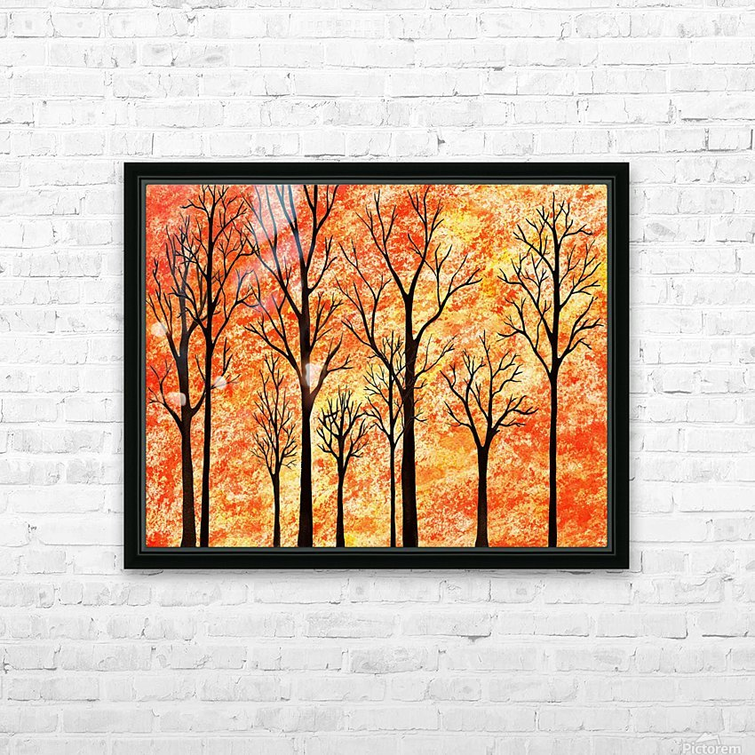 Autumn Forest Abstract  HD Sublimation Metal print with Decorating Float Frame (BOX)