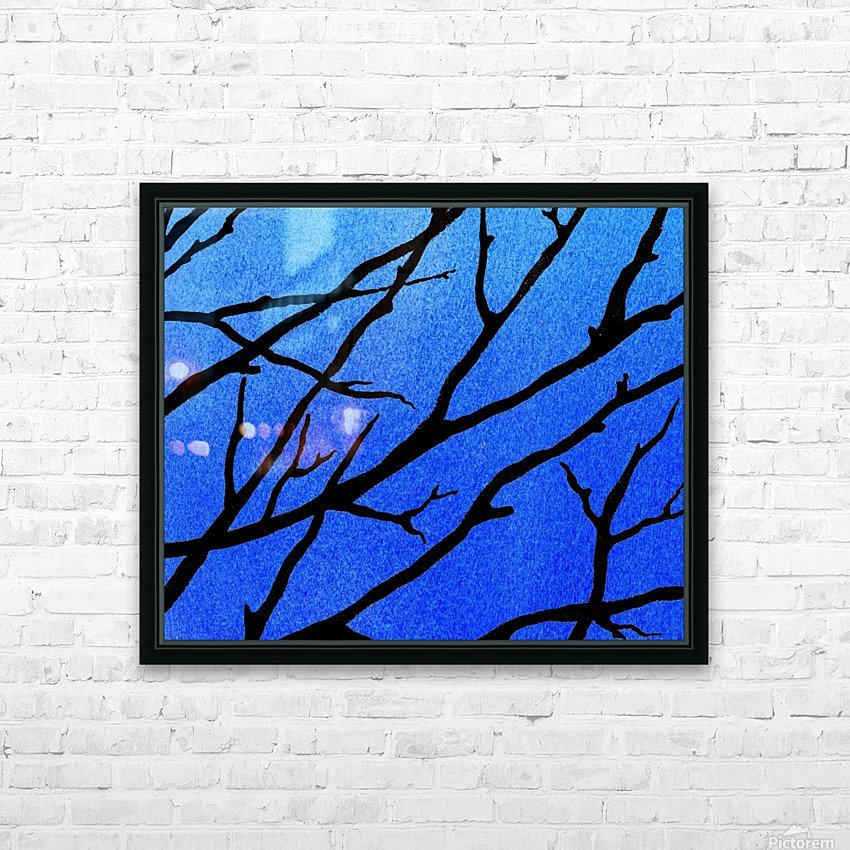 Ultramarine Forest Winter Blues II HD Sublimation Metal print with Decorating Float Frame (BOX)