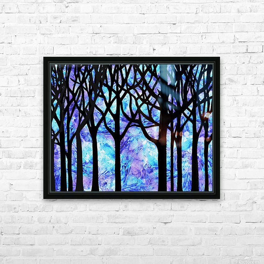 Frozen Forest HD Sublimation Metal print with Decorating Float Frame (BOX)