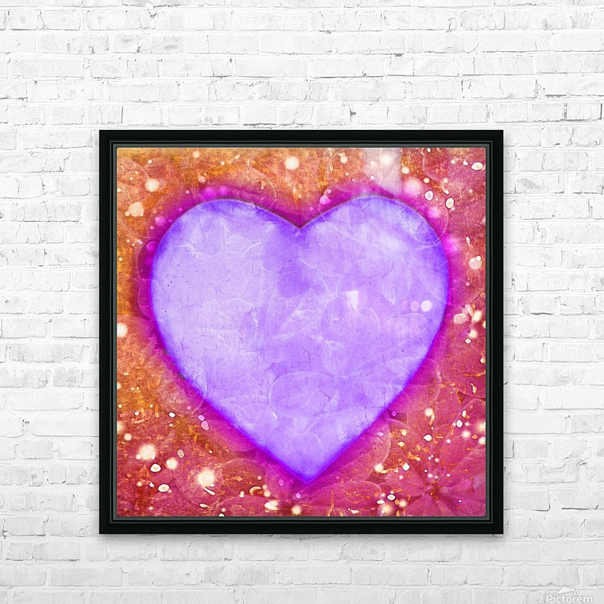 Vibrant Love Digital Art Collage HD Sublimation Metal print with Decorating Float Frame (BOX)