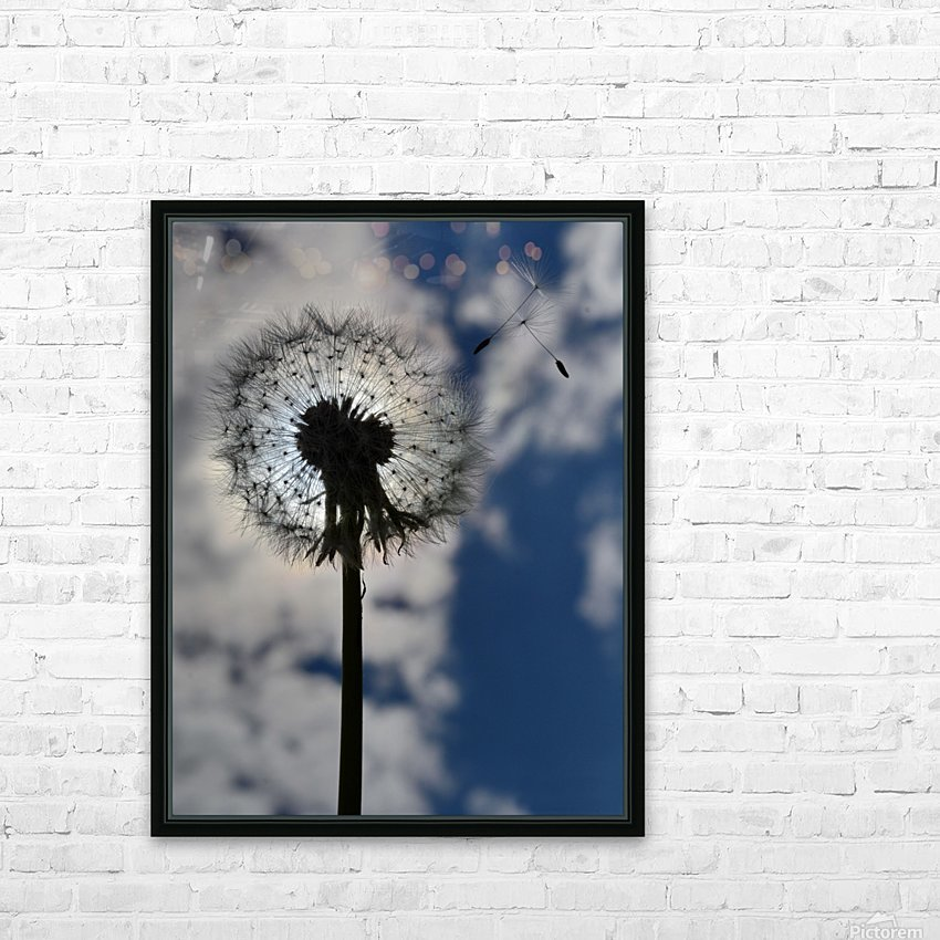 Dandelion HD Sublimation Metal print with Decorating Float Frame (BOX)