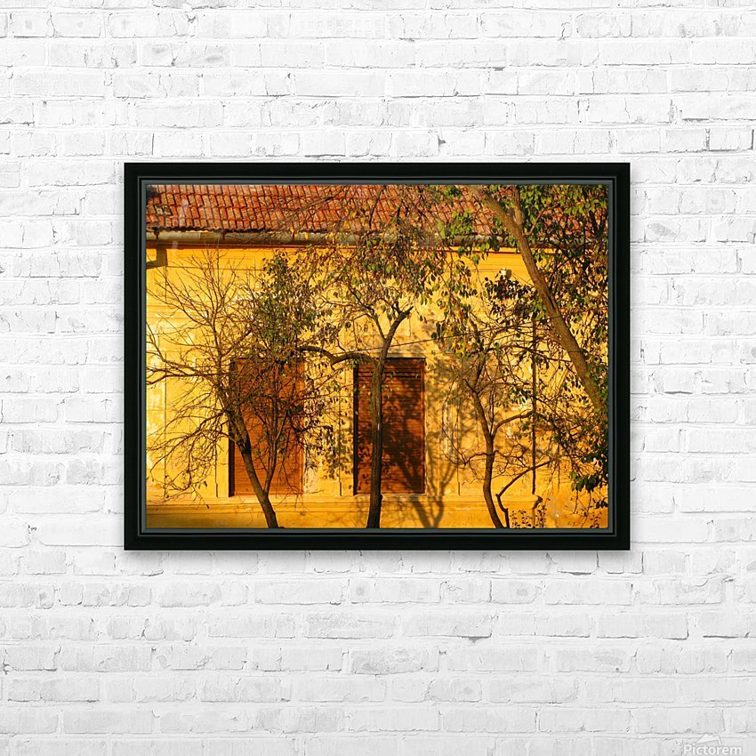 Autumn day in old town Varias HD Sublimation Metal print with Decorating Float Frame (BOX)