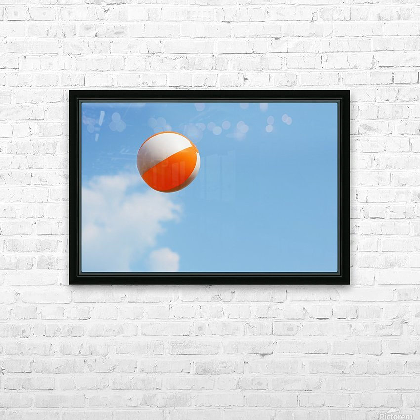 Beach ball on top of cloud HD Sublimation Metal print with Decorating Float Frame (BOX)