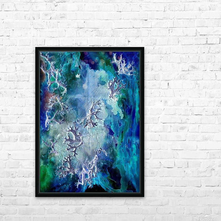 Lunar neuronal essence HD Sublimation Metal print with Decorating Float Frame (BOX)