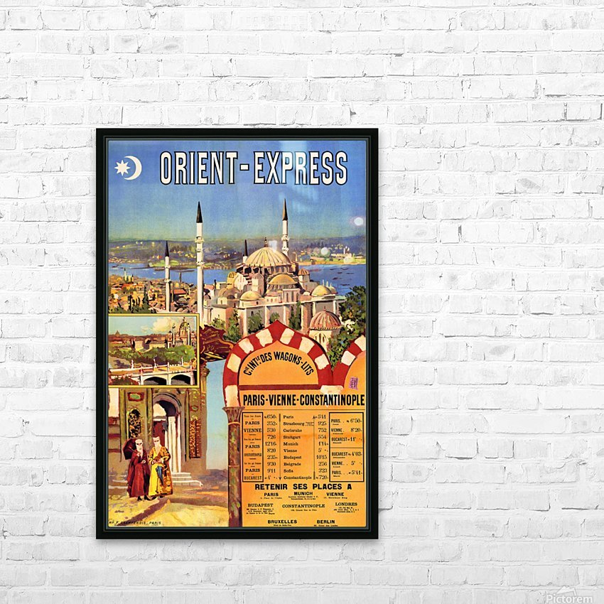1891 Vintage Travel Poster Orient Express Ochoa y Madrazo HD Sublimation Metal print with Decorating Float Frame (BOX)