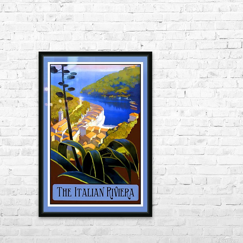 The Italian Riviera HD Sublimation Metal print with Decorating Float Frame (BOX)