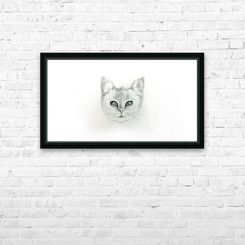 Cat HD Sublimation Metal print with Decorating Float Frame (BOX)