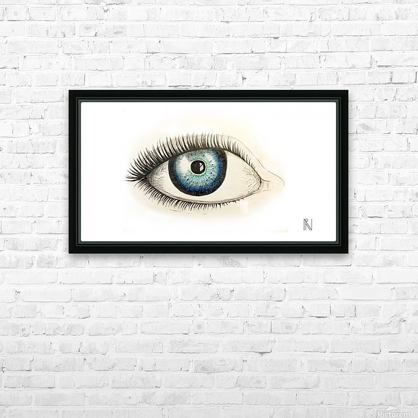 Eye HD Sublimation Metal print with Decorating Float Frame (BOX)