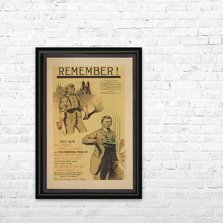 Vintage---Remember-the-Hun HD Sublimation Metal print with Decorating Float Frame (BOX)