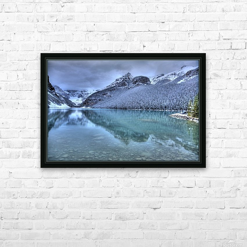 Lake Louise Winter HD Sublimation Metal print with Decorating Float Frame (BOX)