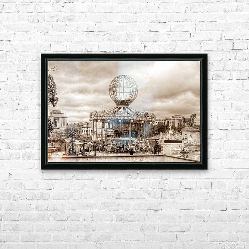 Paris Caroussel HD Sublimation Metal print with Decorating Float Frame (BOX)