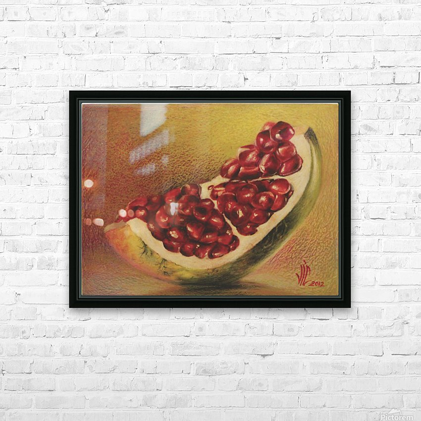 pomegranate by Vali Irina Ciobanu HD Sublimation Metal print with Decorating Float Frame (BOX)