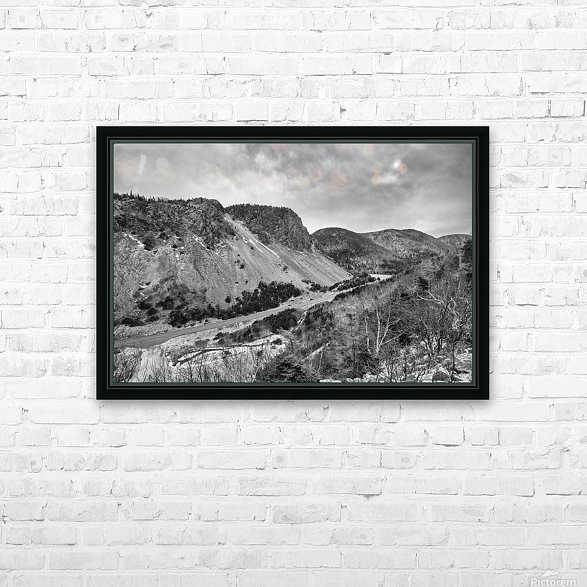 Cliffs of la Grande Falaise HD Sublimation Metal print with Decorating Float Frame (BOX)