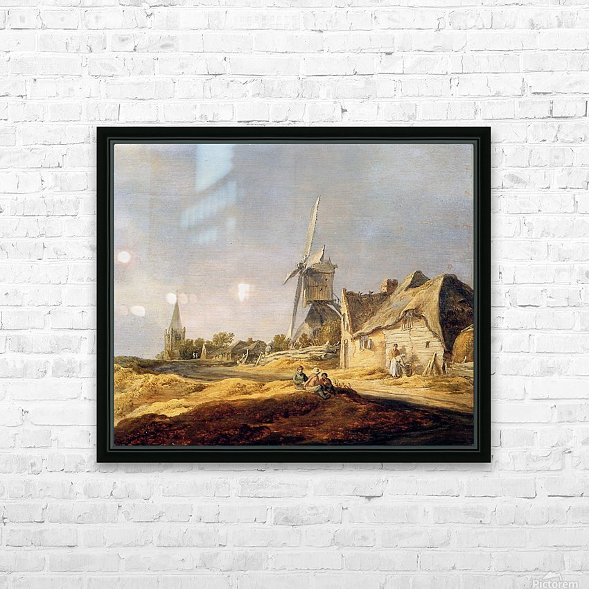 View on country road Sun HD Sublimation Metal print with Decorating Float Frame (BOX)