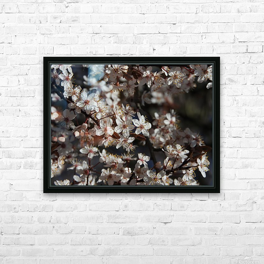 Lovely Blossoms HD Sublimation Metal print with Decorating Float Frame (BOX)