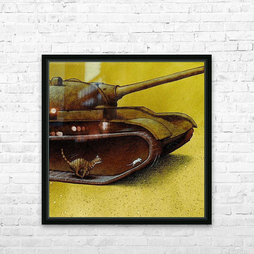 driving gear HD Sublimation Metal print with Decorating Float Frame (BOX)