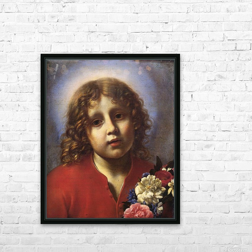 Child with flowers HD Sublimation Metal print with Decorating Float Frame (BOX)