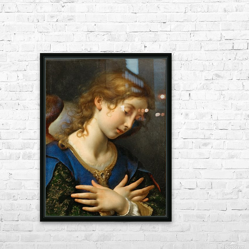 The Angel of Annunciation, 1653 HD Sublimation Metal print with Decorating Float Frame (BOX)