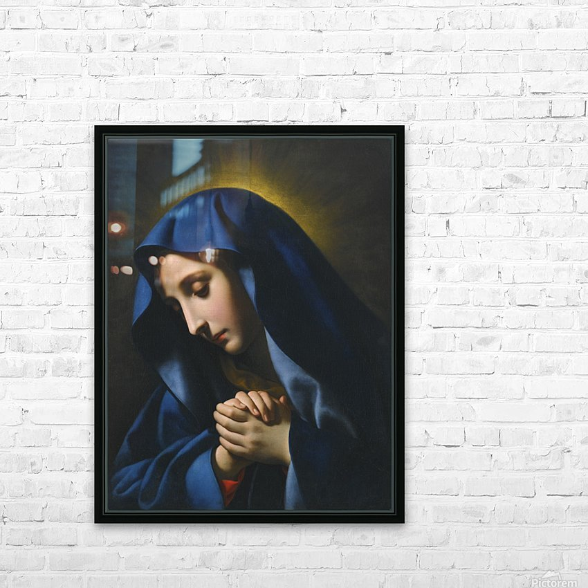 The Madonna at Prayer HD Sublimation Metal print with Decorating Float Frame (BOX)