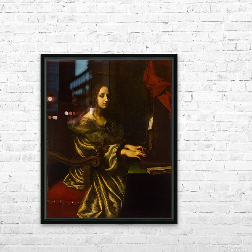 St Cecilia HD Sublimation Metal print with Decorating Float Frame (BOX)