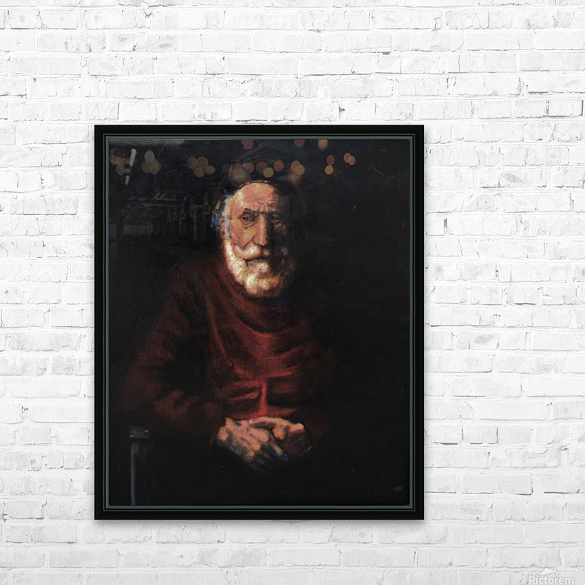 Old man HD Sublimation Metal print with Decorating Float Frame (BOX)