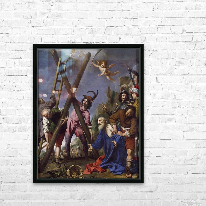 The Martyrdom of St Andrew HD Sublimation Metal print with Decorating Float Frame (BOX)