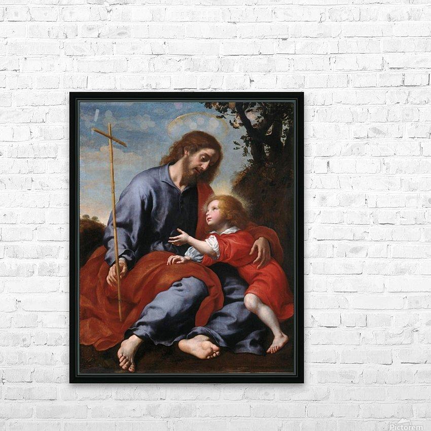 San Giuseppe mostra la croce a Gesu Bambino HD Sublimation Metal print with Decorating Float Frame (BOX)