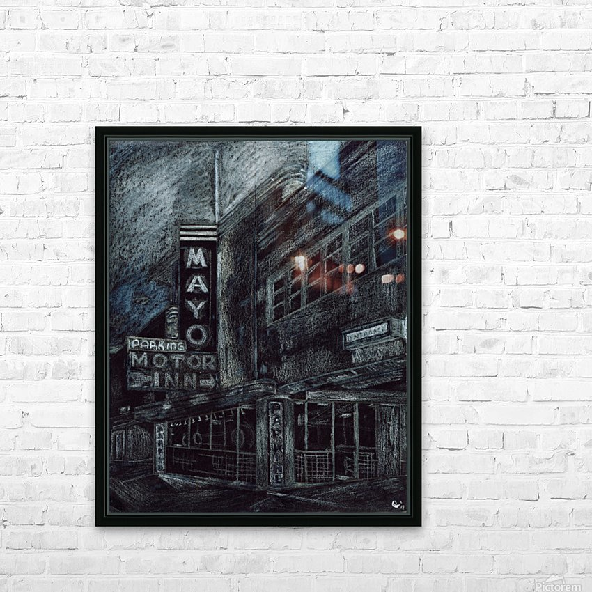 Mayo building HD Sublimation Metal print with Decorating Float Frame (BOX)