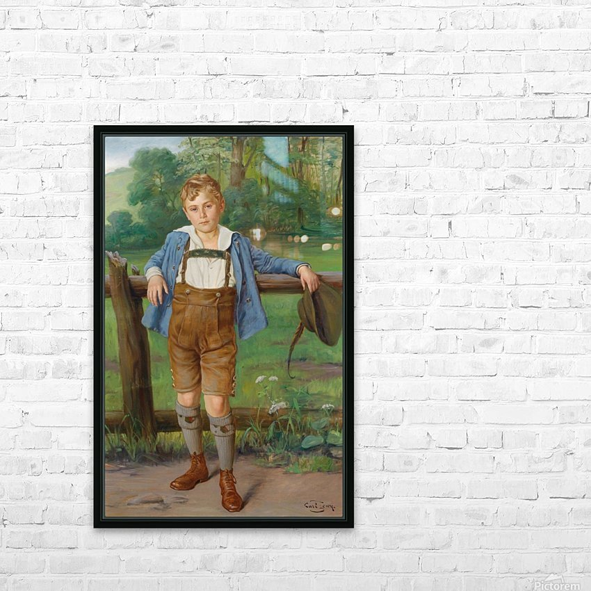 The New Lederhosen HD Sublimation Metal print with Decorating Float Frame (BOX)