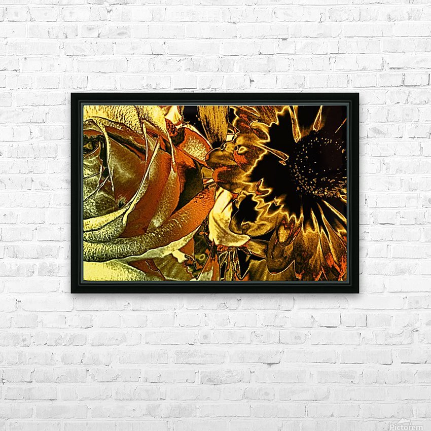 Just Golden HD Sublimation Metal print with Decorating Float Frame (BOX)