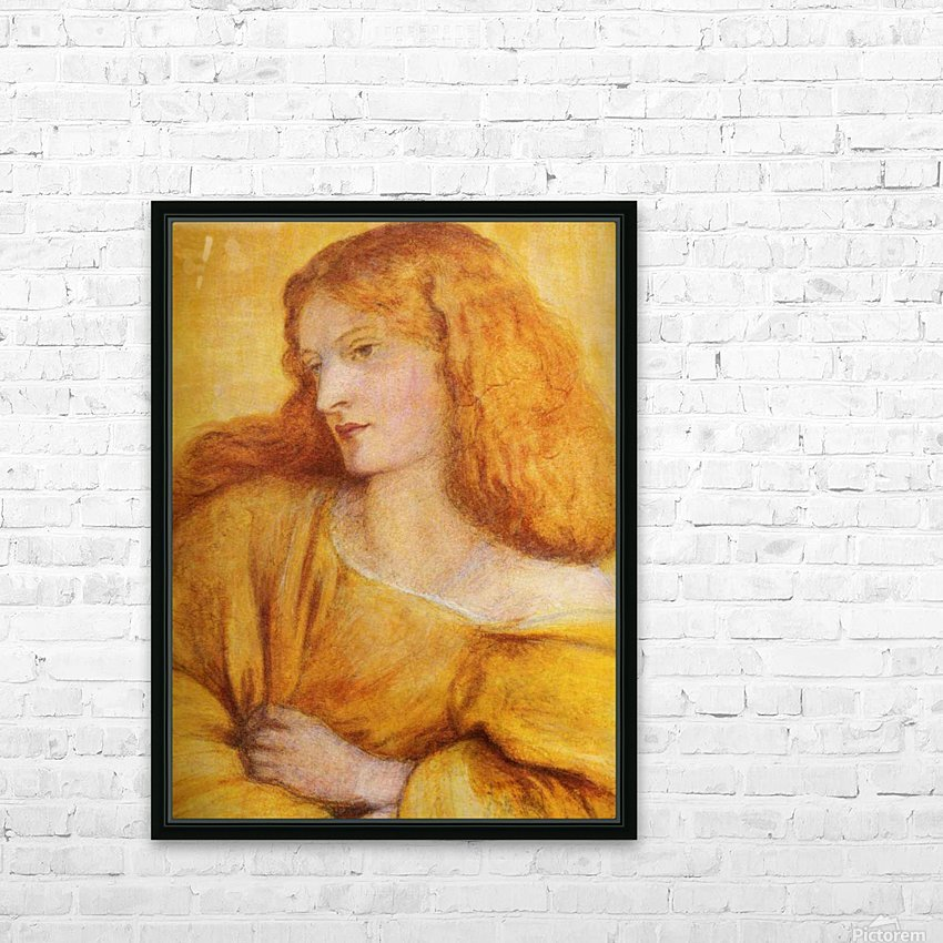 Woman in Yellow HD Sublimation Metal print with Decorating Float Frame (BOX)