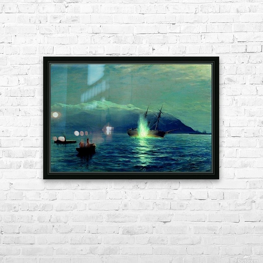 The sinking of the Turkish steamer Intibakh HD Sublimation Metal print with Decorating Float Frame (BOX)