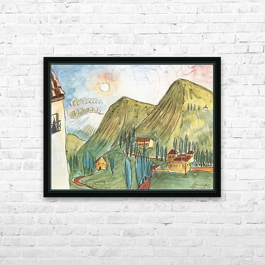 Granada by Walter Gramatte HD Sublimation Metal print with Decorating Float Frame (BOX)