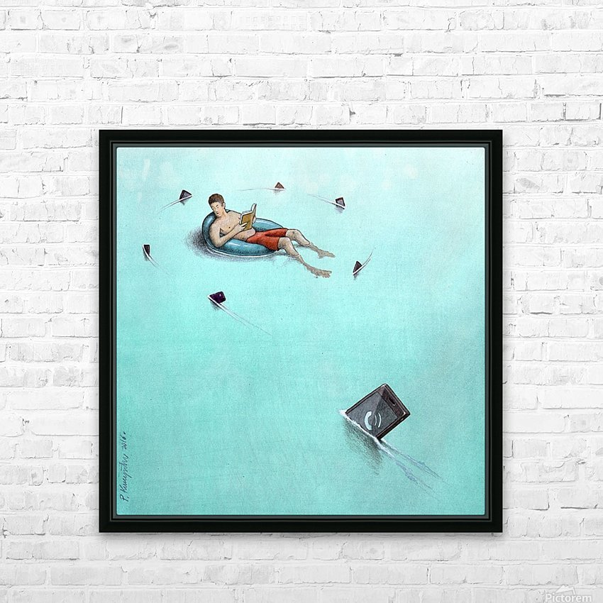 Sharks HD Sublimation Metal print with Decorating Float Frame (BOX)